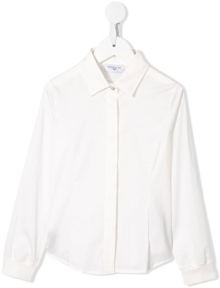 MonnaLisa Embroidered Long Sleeve Shirt