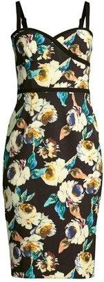 Black Halo Daria Floral Bustier Dress