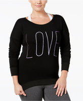 Material Girl Active Plus Size Sweatshirt, Only at Macy's