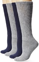 Dr. Scholl's Women's Diabetic and Circulatory Knee High Socks - 4 Pair Pack