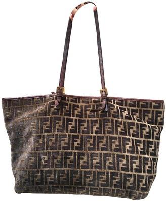 Fendi Roll Bag Brown Velvet Handbags