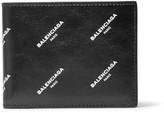 Balenciaga Printed Textured-leather Bifold Wallet - Black