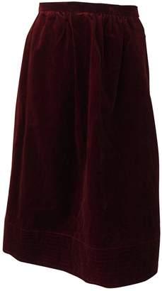Jean Patou Burgundy Velvet Skirt for Women Vintage