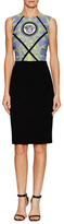 Versace Medusa Head Contrast Sheath Dress