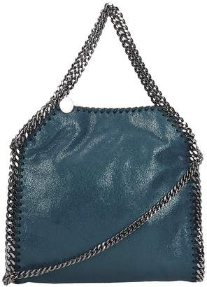 Stella McCartney Falabella Shoulder Bag In Petroleum Faux Leather