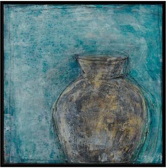 Jonathan Bass Studio Vessel Of Antiquity Iv, Decorative Framed Hand Embellished Canvas