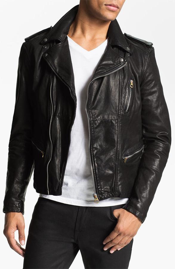 Scotch & Soda 'Rocker' Leather Jacket