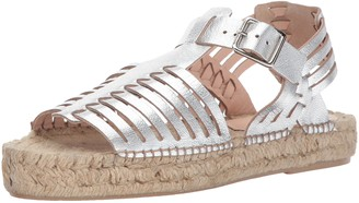 Loeffler Randall Women's Reid Woven Espadrille Sandal (Leather) Wedge