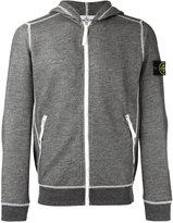 Stone Island arm patch zipped hoodie