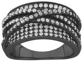 """Tiara 2.15 CT. T.W. Curved """"x"""" Cubic Zirconia Ring In Sterling Silver"""