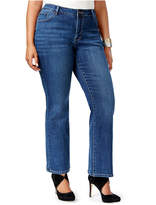Lee Platinum Plus Size Curvy-Fit Bootcut Jeans, Only at Macy's