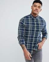 New Look New Look Regular Fit Shirt In Blue And Green Check