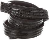 Jil Sander Patent Leather-Accented Belt