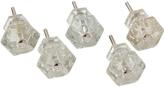 Rejuvenation Set of 5 Glass Hexagonal Knobs