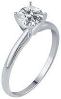 1/4 CT. T.W. IGL certified Round-cut Diamond Solitaire Prong Set Ring in 14K Gold (HI-I2I3)