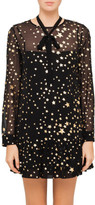 RED Valentino Silk Dress With Gold Stars