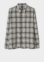 Paul Smith Men's Grey Check Red Ear Shirt