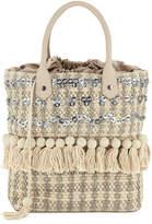 Sam Edelman Tori Woven Embellished Tote Bag