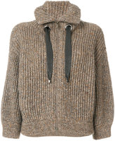 Brunello Cucinelli - zipped knitted c