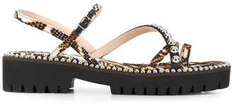 Jimmy Choo Desi snake print sandals