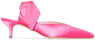 Couture Gia Lizzo bow detail mules