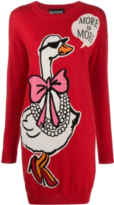 Boutique Moschino Intarsia-Knit Dress