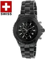 Peugeot PS968 Men's Black Ceramic Chronograph Watch