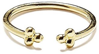 Agnes de Verneuil Open Ring With Three Pearls - Gold