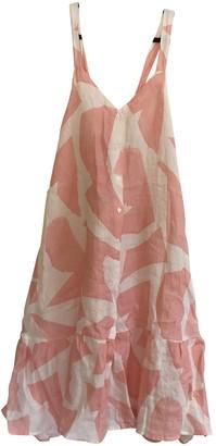 Desmond & Dempsey Pink Linen Dresses