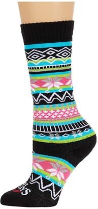 Hot Chillys Kids Prima Mid Volume Sock (Toddler/Little Kid/Big Kid) (Prima/Turquoise) Girls Shoes