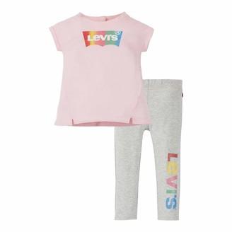 Levi's Kids Lvg Tunic Legging Set Pants Set Baby Girls Rose Shadow 6 Months