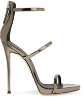 Giuseppe Zanotti Harmony Metallic Leather Sandals - Brass