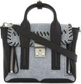 3.1 Phillip Lim Pashli mini denim and leather satchel
