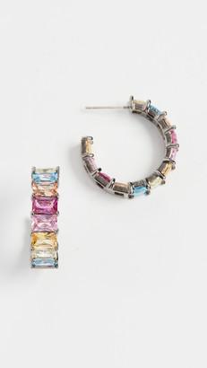 Theia Juliana Emerald Cut Hoop Earrings