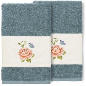 Linum Home Textiles 100% Turkish Cotton Rebecca 2PC Embellished Hand Towel Set