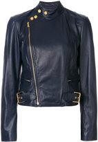 Polo Ralph Lauren leather motor jacket - women - Leather/Cupro - XS