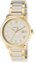 Versace 43mm Business Men's Two-Tone Stainless Steel Bracelet Watch