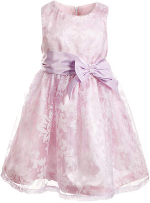 Good Lad Little Girls Burnout Gauze Satin Dress