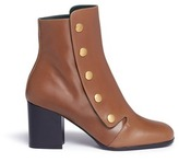 Mulberry 'Marylebone' press stud leather boots