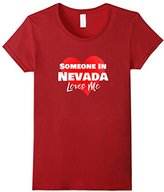 Men's Someone in Nevada NV Loves Me Long Distance Shirt 2XL