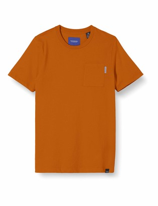 Scotch & Soda Boy's AMS Blauw Classic Pocket Tee T-Shirt