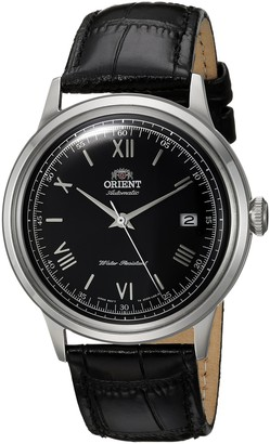 Orient Men's 2nd Gen. Bambino Ver. 2 Stainless Steel Japanese-Automatic Watch with Leather Strap Brown 21 (Model: FAC00008W0)