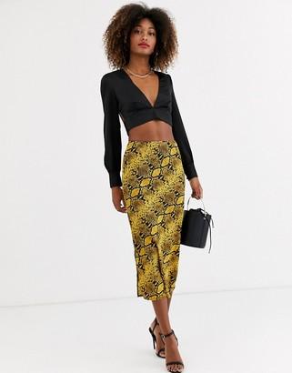AX Paris aline midi skirt in snake-Multi
