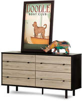 South Shore Morice Mid-Century Modern Four-Drawer Double Dresser