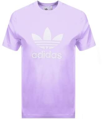 adidas Trefoil T Shirt Lilac
