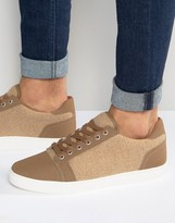 Asos Sneakers In Stone
