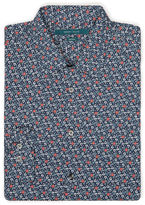 Perry Ellis Non-Iron Multicolor Floral Print Shirt