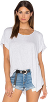 Heather Boxy Swing Hem Tee