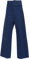Sea Belted Cropped Cotton-Blend Pants