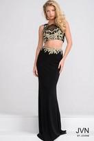 Jovani Sheer Neckline Two Piece Dress JVN33748